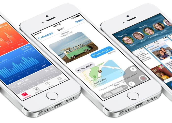 iPhones 5s con iOS 8