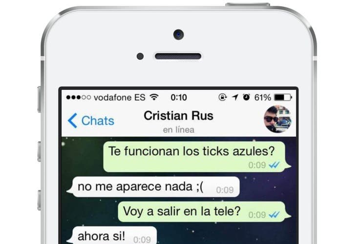 Ejemplo doble check azul WhatsApp