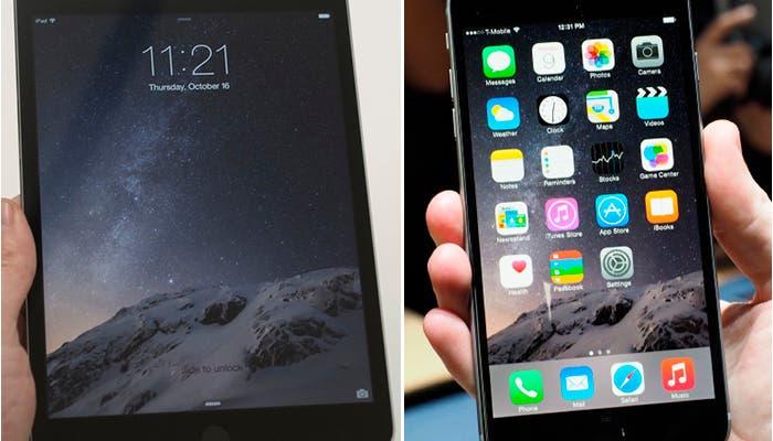 Comparación entre iPad mini 3 y iPhone 6 Plus