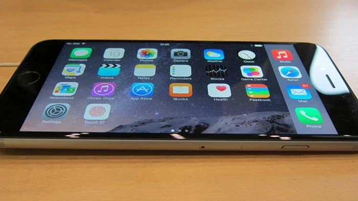 Vista apaisada en el iPhone 6 Plus derivada del iPad