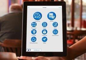 Aplicación No Olvido en el iPad