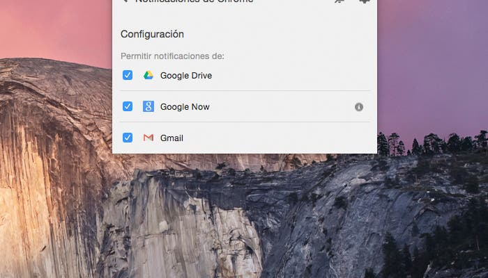 Notificaciones de Google Chrome