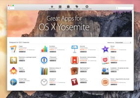 Nueva estética de la Mac App Store