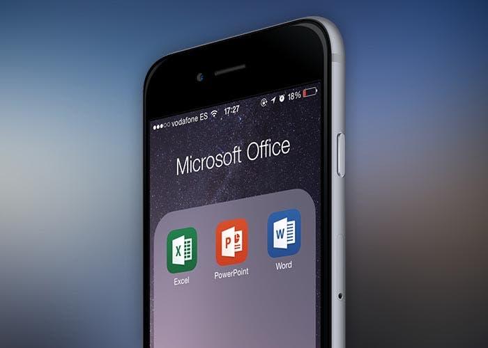 iPhone con Office cargado