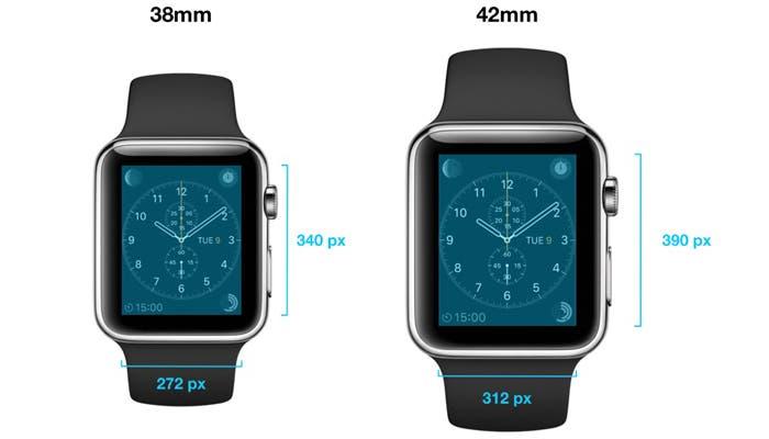 Dimensiones del Apple Watch