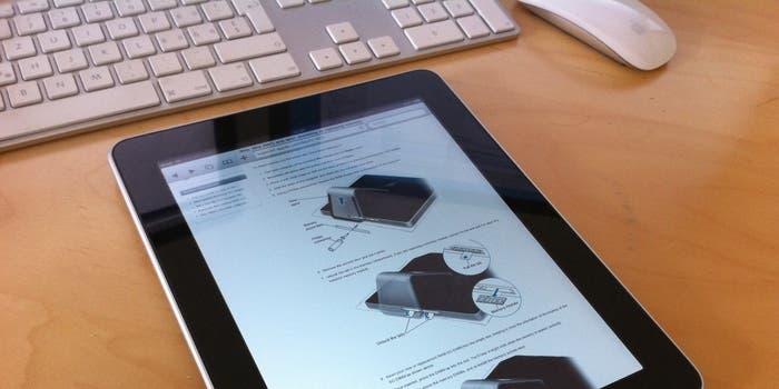 iPad en entorno de trabajo