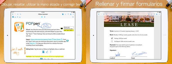 Aplicación para iPad PDFpen 2