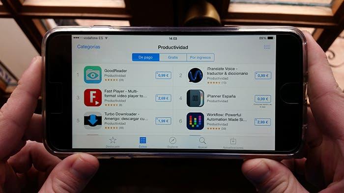App Store en iPhone 6 Plus