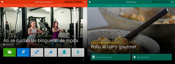 Aplicaciones de MSN para iPad