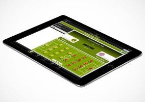 Fútbol en Directo HD en un iPad Air