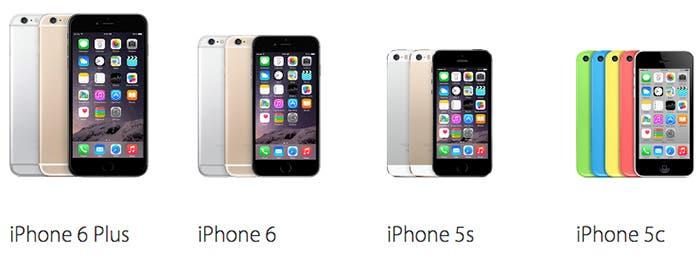 gama iPhone navidad 2014