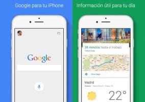 Capturas de la aplicación oficial de Google para iOS