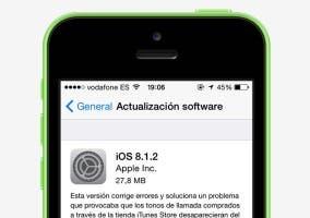 Actualización iOS 8.1.2