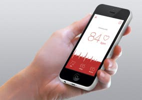 Heart Rate Monitor en un iPhone