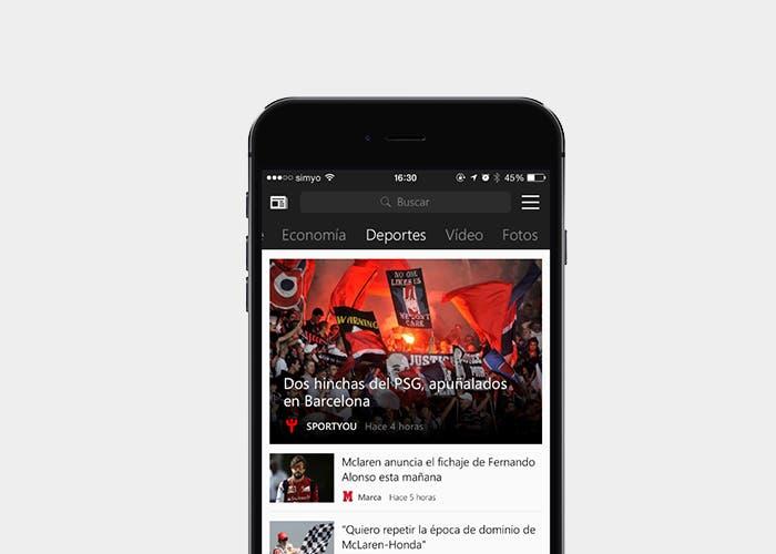 MSN Noticias para iPhone