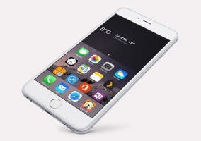 Reach Weather funcionando en un iPhone 6 Plus