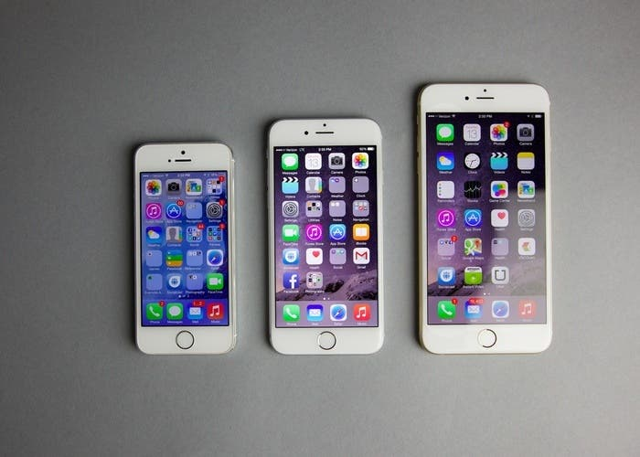 iPhone 6, iPhone 6 Plus y iPhone 5s