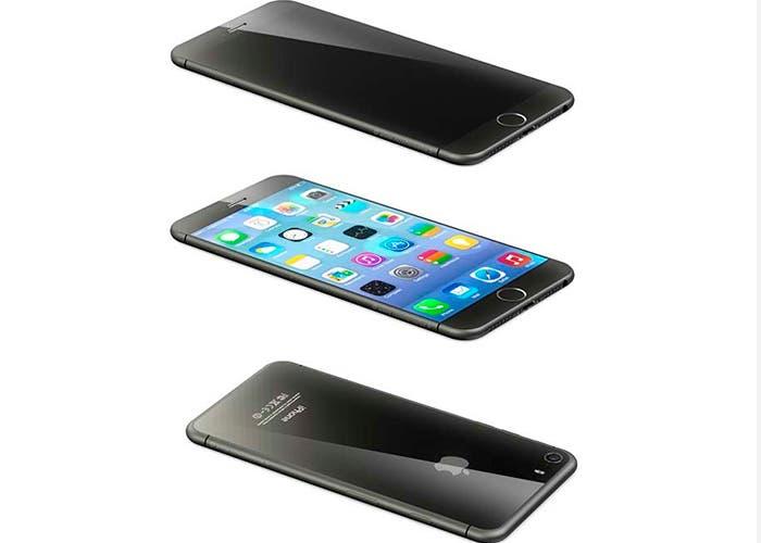 Concepto de iPhone reduciendo al mínimo los bordes