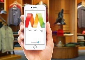 Usando Mooverang en una tienda de ropa