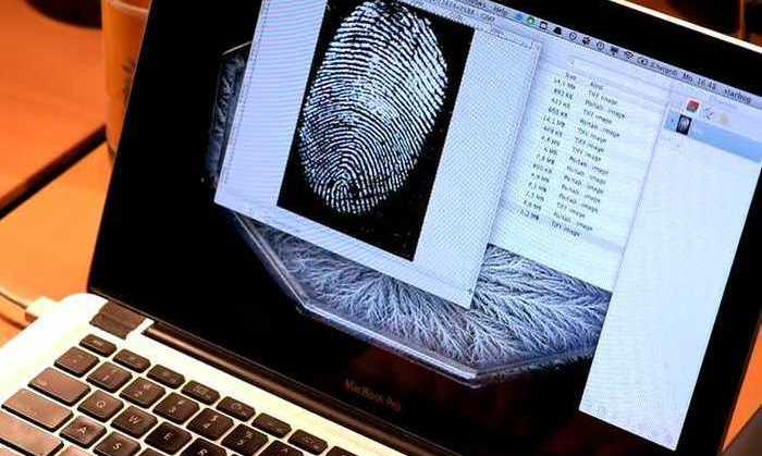Imagen de huella dactilar en MacBook