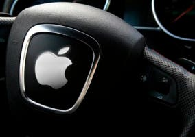 Volante de un futuro Apple Car