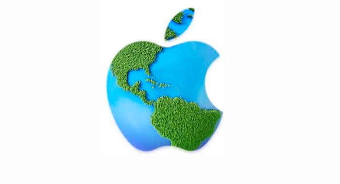 Logo de Apple haciendo referencia al medio ambiente
