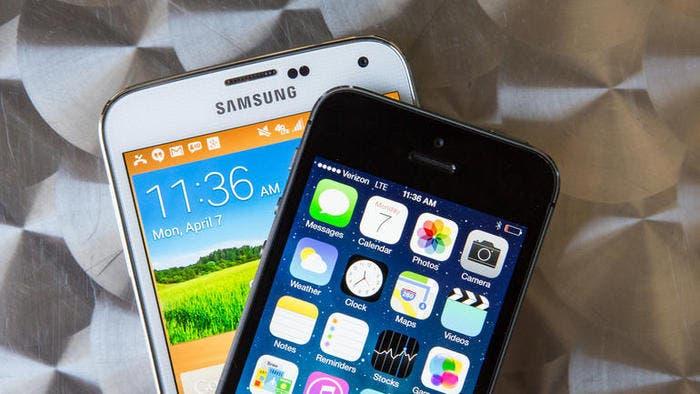 Smartphones de Samsung y Apple