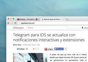 Silenciar pestañas en Chrome para OS X