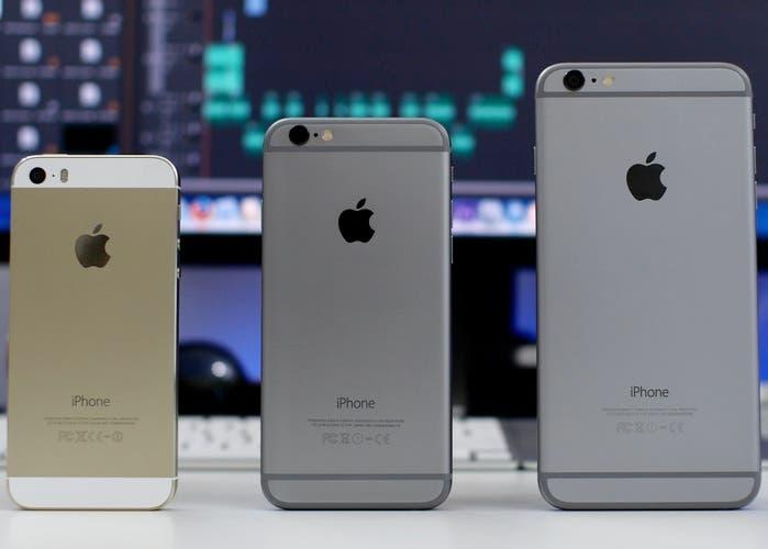 iPhone 5s, iPhone 6 y iPhone 6 Plus