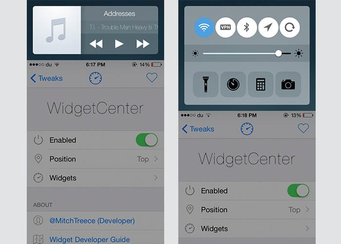 Widgets con Reachability