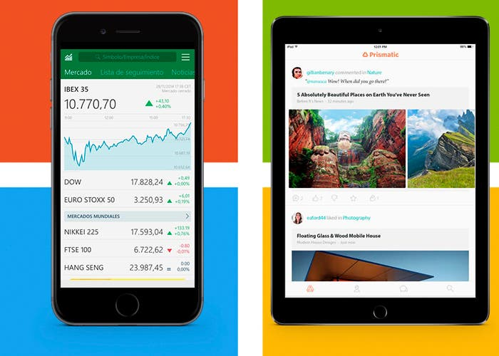 MSN Dinero y Prismatic en iPhone 6 y iPad Air 2