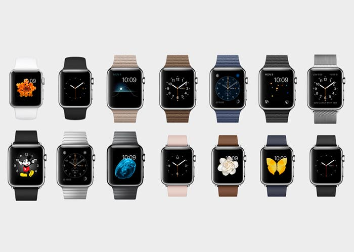 Apple Watch con sus distintas carátulas