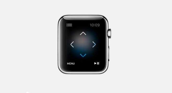 Control de televisión mediante el Apple Watch