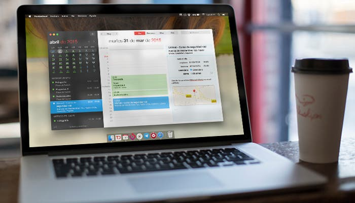 Fantastical 2 para Mac en MacBook