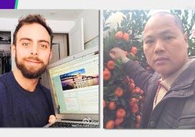 Matt Sopera y el poseedor de su iPhone robado