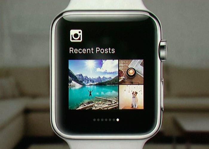 Aplicación de Instagram en el Apple Watch