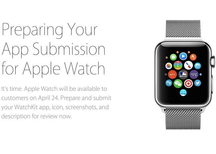 Apple ya acepta aplicaciones del Apple Watch