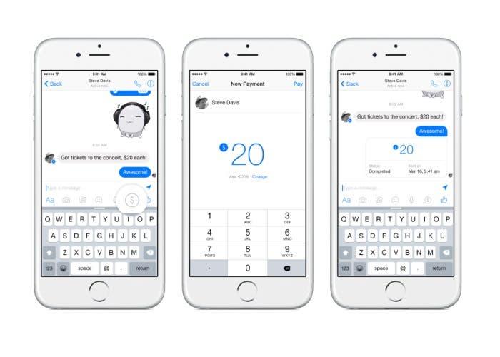 Envíos de dinero en Facebook Messenger