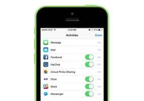 Menú de sitios donde compartir en iOS