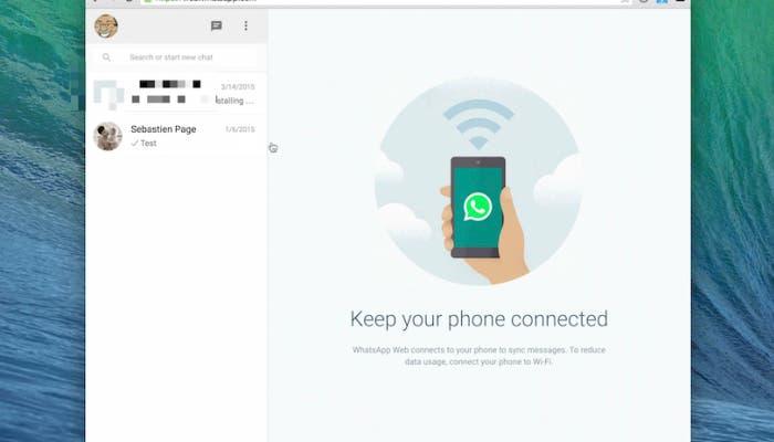 WhatsApp Web en iPhone