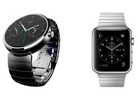 Moto 360 de Motorola y Apple Watch de Apple
