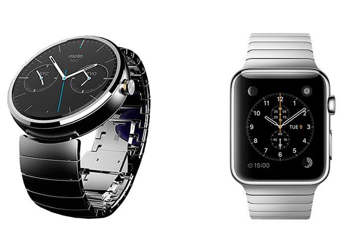 Moto 360 de Motorola y Apple  Watch de Apple