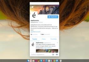 Applesencia en Twitter para Android