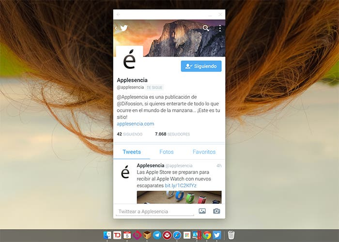 Applesencia en Twitter para Android