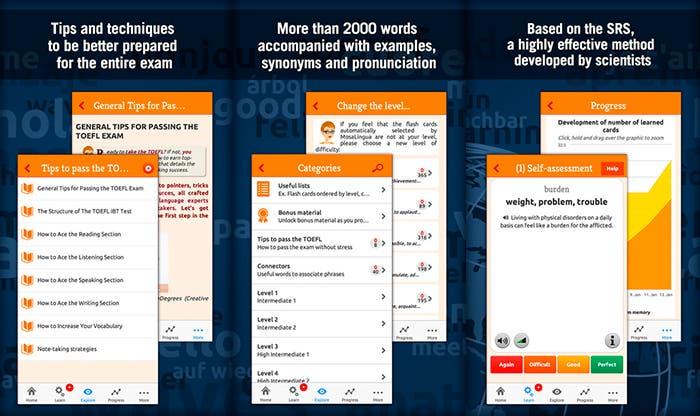 Aplicación TOEFL Test Vocabulary Trainer