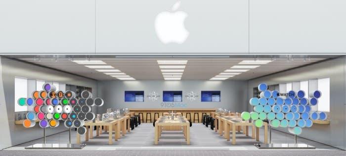 Apple Store con escaparate para Apple Watch