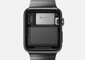 Foto del interior del Apple Watch y el Taptic Engine