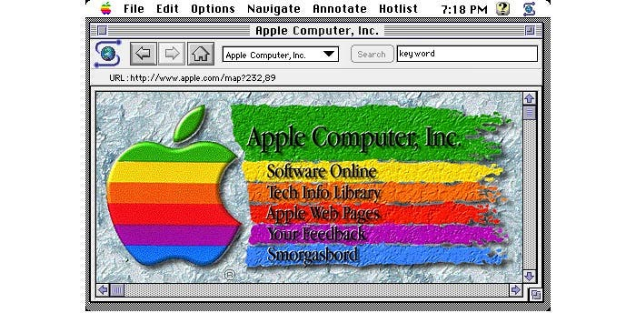 La web de Apple en 1993