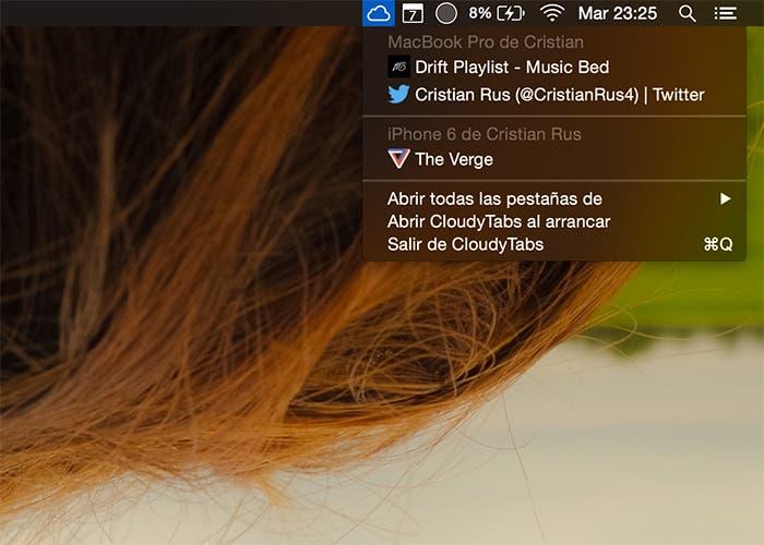 CloudyTabs para OS X