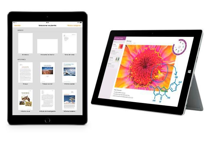 iPad y Surface